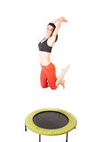 Fitness on trampoline Royalty Free Stock Photography