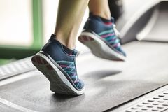 Fitness  treadmill Royalty Free Stock Images
