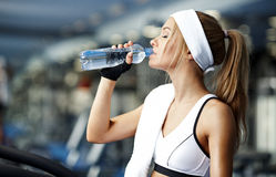 Fitness on a treadmill Royalty Free Stock Images