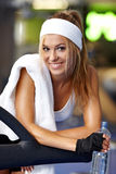Fitness on a treadmill Royalty Free Stock Photo