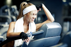 Fitness on a treadmill Royalty Free Stock Photos