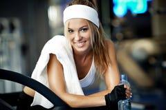 Fitness on a treadmill Royalty Free Stock Photo