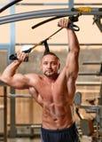 Fitness TRX man portrait Stock Image