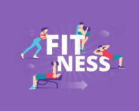 Fitness typographic poster Royalty Free Stock Images