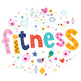 Fitness typography lettering text design Royalty Free Stock Photos