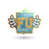 Fitness University Vector Royalty Free Stock Photos
