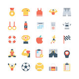 Fitness Vector Icons 4 Royalty Free Stock Photo