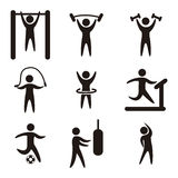 Fitness vector Royalty Free Stock Images