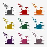 Fitness Vector Icons Series, Fitness cycling icon. Vector icon stock illustration