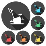 Fitness Vector Icons Series, Fitness cycling icon. Vector icon royalty free illustration