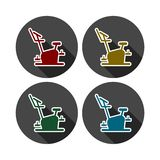 Fitness Vector Icons Series, Fitness cycling icon. Vector icon vector illustration