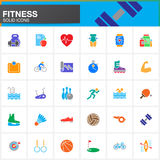 Fitness vector icons set, modern solid symbol collection, pictog Royalty Free Stock Image