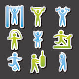 Fitness vector Royalty Free Stock Photo