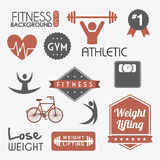 Fitness vector Royalty Free Stock Photography