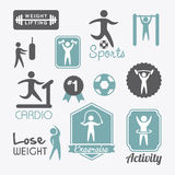 Fitness vector Stock Images
