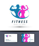 Fitness vector logo design template. gym or sport. Sports and fitness on a white background. vector illustration Stock Photo
