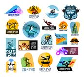Fitness vector logo design template. sport or Stock Image
