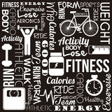 Fitness vector Royalty Free Stock Photos