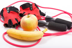 Fitness and Vitamins plus Royalty Free Stock Image