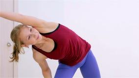 Fitness. Warm-up closeup stock footage