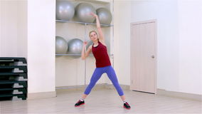 Fitness. Warm-up stock video