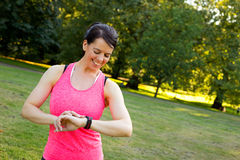 Fitness watch Stock Photography