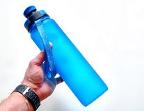 Fitness water bottle royalty free stock images