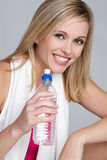 Fitness Water Girl Stock Photography