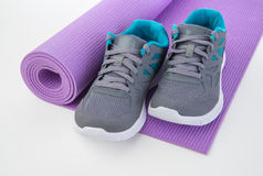 Fitness Water and Towel Royalty Free Stock Photos
