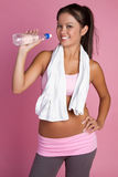 Fitness Water Woman Stock Image
