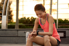 Fitness wearable technology Royalty Free Stock Image