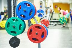 Fitness weight equipment for training Royalty Free Stock Images