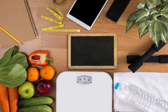Fitness and weight loss concept stock photography