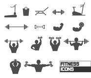 Fitness and Weight Training Icons Royalty Free Stock Photos