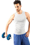 Fitness with weights Royalty Free Stock Photos