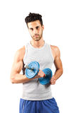Fitness with weights Stock Photo