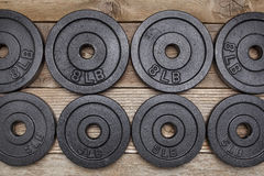 Fitness weights Royalty Free Stock Photos