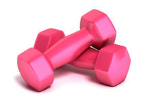 Fitness weights isolated. On white Stock Photos