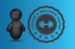 Fitness and wellness center badge Stock Photography