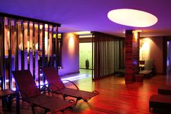 Fitness and wellness center. Spa salon interior royalty free stock images