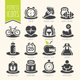 Fitness and wellness icon set Stock Photos