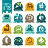 Fitness and wellness icon set Stock Photography