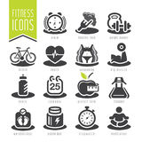 Fitness and wellness icon set Royalty Free Stock Images