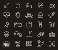 Fitness and wellness icons. This is a set of icons related to Fitness, Gym, Health Care and Wellness Royalty Free Stock Images
