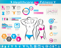 Fitness and wellness infographcs Stock Image