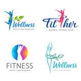 Fitness and wellness vector logo design. Vector illustration vector illustration