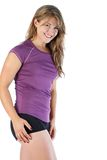 Fitness woman. Young woman poses wearing her fitness outfit Stock Images