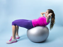 Fitness Woman abdominal exercise Stock Photo