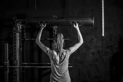 Fitness Woman Weightlifting Workout Royalty Free Stock Images