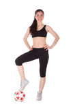Fitness woman with a ball Royalty Free Stock Photo